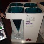 Beautiful teal glasses, 10p each in Wilkinson
