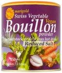 Marigold Swiss Vegetable Vegan Bouillon Powder Reduced Salt 150g 50p @ Tesco