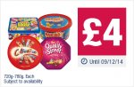 Celebrations/Quality Street/Swizzells Sweet Shop Favourites/ Haribo Share the Fun/Tin/Tub/Carton @ Co-Op 720-780g £4 each