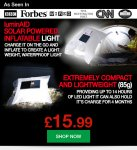 MyMemory Mega Monday 24hr Deal - LuminAID Portable Solar Light £15.99 Delivered