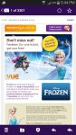 frozen sing along £2.50 @ vue spend 500 nectar point for one ticket and get another ticket free