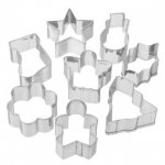 Set of 4 large or 8 mini  metal Christmas / Xmas Biscuit / Cookie Cutters £1 Poundland