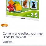 Free Lego DUPLO at Smyths Toys using O2 Priority