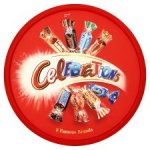 Celebration/ Quality street/ Roses/Heroes/ swizzelsharibo/ rowntrees/ maynards tubs, tins £4 @ Tesco