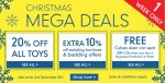 20% off ALL toys at Mothercare and ELC. Including existing offers!!!! 1 week only
