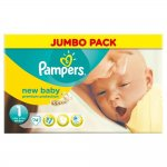 Pampers New Baby Size 1 (Newborn) Jumbo Nappies - Pack of 74, only £5.84 at amazon.co.uk, 8p/nappy (free delivery £10 spend/prime)
