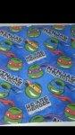Teenage mutant ninja turtles lined pleated curtains £5 at asda instore
