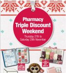Co-op pharmacy Triple STAFF discount this weekend