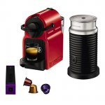 Nespresso Krups Inissia Red with Aeroccino £79.95 from John Lewis with £75 Nespress Gift Card, 3 yr warranty
