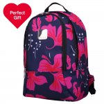 Tripp Express Scattered Leaf Backpack Navy/Magenta (was £55) reduced to £10