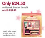 Benefit best of benefit gift set £24.50 at boots
