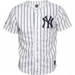 Majestic Athletic Junior New York Yankees Stripe Jersey White/Navy £11.78 delivered @ MandM Direct