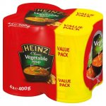 Heinz vegetable soup 400g tins - pack of 4 for 99p @ Family bargains