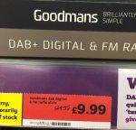 Goodmans GMR1888DAB Radio £9.99 Instore @ Sainsburys