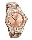 Seksy Rose-gold Plated Watch £48.75 with 25% off code KLGL6 (£65 without code)  and free delivery at the brilliant gift shop.co.uk