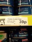 OCEAN BEST TUNA FLAKES INSTORE 39p @ Pound Stretcher Offline