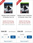 PS4/XB1: Middle Earth: Shadow of Mordor (including Dark Ranger DLC) £28.00 + Possible £5.25 cashback (TCB) @ Tesco Groceries