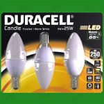 Duracell Led candle bulbs 3 pack reduced to £3 @ B&M