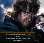 Win One Of Five 32inch 3D Smart TV With The Hobbit @ EMPIRE