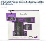 FCUK Mens Boxers, Bodyspray and Hair & Bodywash Gift Set and others £9.33 @ Boots