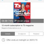 £9.99 for 12 months subscription to T3 Magazine with Magazine Subscriptions.co.uk