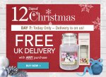 FREE DELIVERY TODAY ONLY AT YANKEE CANDLE