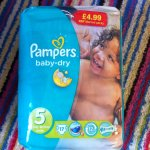 Pampers nappies various sizes £2.89 premier discount store Broxtowe lane nottingham