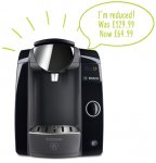 Bosch Tassimo Joy T43 half price + 20% off + free delivery = £51.99 direct from Tassimo