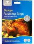 LARGE Roasting Bags  x 3  for £1 - 45cm x 55cm Poundland Suitable for Large Turkeys.