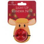 Light Up Reindeer Nose - £1.00 delivered from The Works ( code FREETODAY ) & 18% Quidco