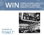 Hyatt Hotels Prizes to be won a different prize every day