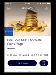 Free Chocolate Gold Coins (60g) with O2 Priority Moments