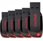 SanDisk 8GB Cruzer Blade USB Flash Drive - FIVE PACK - £12.82 - USE BASKET5 Free Delivery @ Gizzmo Heaven