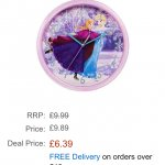 Frozen wall clock £6.39 @ Amazon    (free delivery £10 spend/prime)