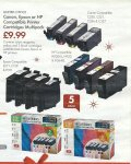 Canon Epson or HP Compatible Printer Cartridges Multipack - 5 PACK for £9.99 - INCLUDES PHOTO BLACK - Includes HP 364XL Compatible - LIDL - Mon Dec 22nd