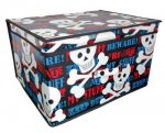 Jumbo Folding Keep Out Kids Room Tidy Toy Storage Box Chest Trunk with Lid £6.42 delivered @ Bargain Warehouse / Amazon