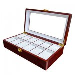 Wooden watch box (12) free del.£22.79 @ eBay / maxtoptech
