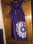 Womens purple ax paris dress size 14
