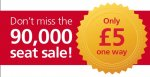90,000 £5 Seat Sale! @ Greater Anglia