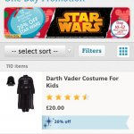 Disney store 20% off StarWars online TODAY ONLY!!