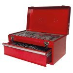 Top Tech 150 piece Tool Box With Tools List price £119.99 NOW ONLY £39.99 FREE DELIVERY sold by euro car parts - ALSO TWEET5 for extra 5% off confirmed, meaning FINAL PRICE OF JUST £37.99!!!!!!
