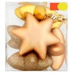 Morrisons 6 Gold Star Baubles 6 per pack