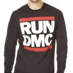 RUN DMC black sweatshirt £8 at tesco clothing click and collect (f&f) & quidco
