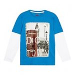 Boy's blue London scene printed t-shirt was £12 now £2.70 with code (free C&C) MX32 @ debenhams