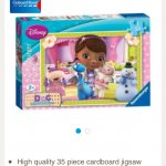 Doc McStuffins 35 piece jigsaw puzzle £2.76 free click and collect Tesco