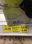 TP-Link 300Mbps Cable Router InStore Offer Tesco - £15