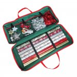 CHRISTMAS DECORATION & WRAPPING PAPER ZIP UP STORAGE BAG WITH CARRY HANDLES EBAY £5.95 @  eBay Tonys Textiles