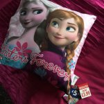 Frozen - sisters forever pillow B & M in store £3.99