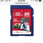 MYMEMORY 32GB SD CARD (SDHC) - CLASS 10 £8.06 delivered @ my memory (Code - XMAS10)
