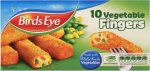 Birds Eye Vegetable Fingers (10 per pack - 284g) was £1.00 now 2 for £1.50 again @ Iceland
